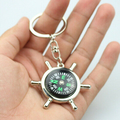 Unisex Fashion Compass Metal Car Keyring Keychain Key Chain Ring Keyfob 6