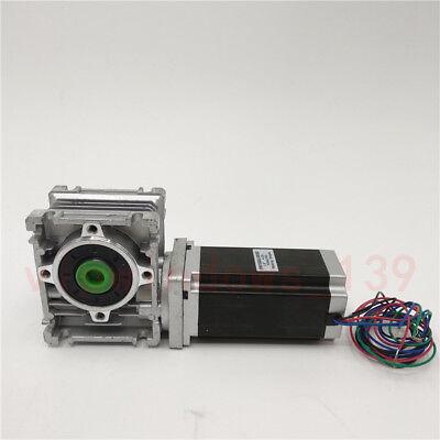 Nema23 3NM Stepper Motor Driver Kit 4.2A & Worm Gearbox Speed Reducer 30:1 CNC 4