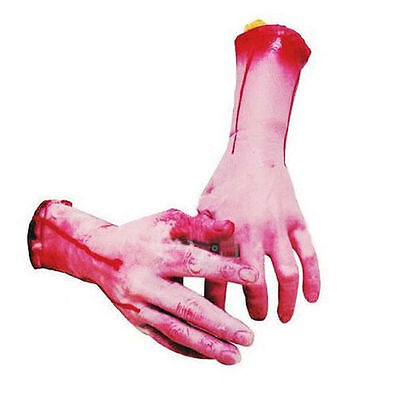 Halloween Horror Props  Bloody Hand Haunted House Party Scary Decoration 6