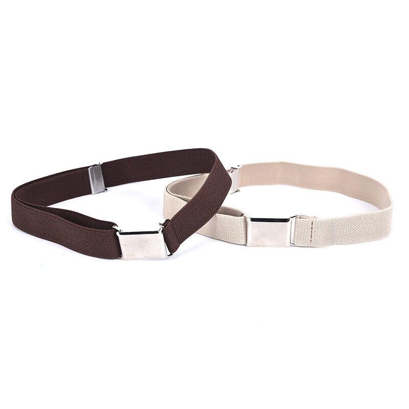 Children Solid Color Unisex Canvas Belts Boys Girls Elastic Belt Adjustable MC 7