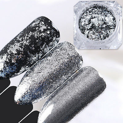 Born Pretty Irregular Glitter Nails Sequins Flakes Gold Silver Paillette Powder 9