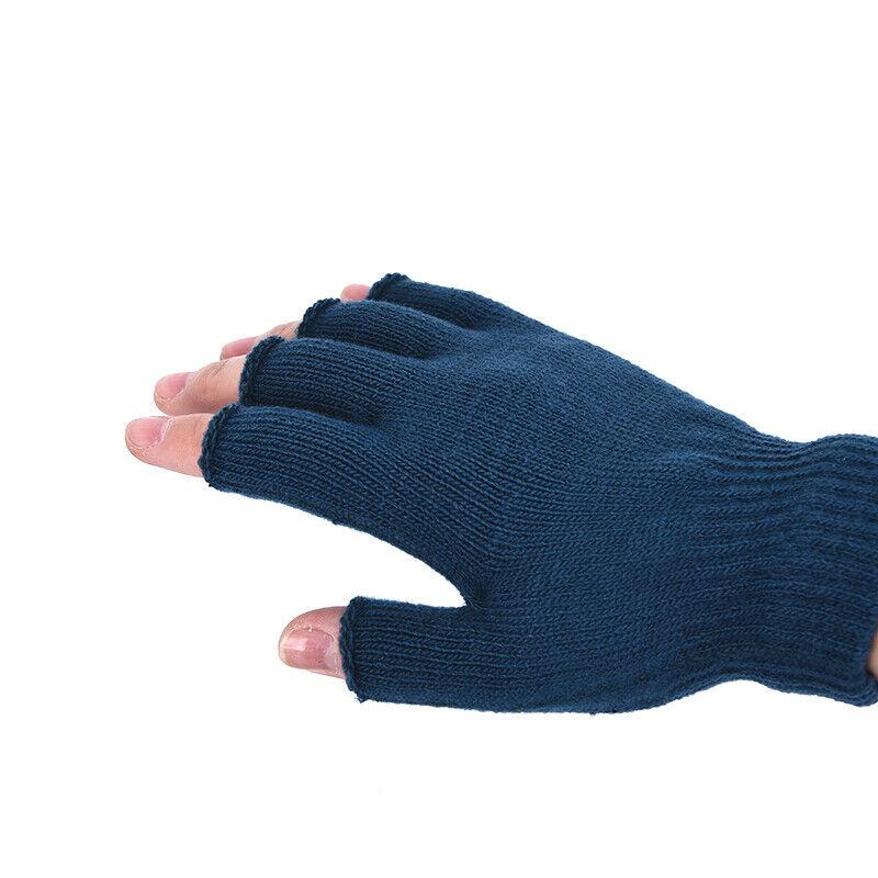 1 Pair Soft Half Fingerless Gloves Women Men Warm Knitted Mittens Couple _kz 4