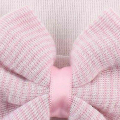 Newborn Baby Girl Big Bow Beanie Hat Cap Boy Cotton Headband Kids Hair Accessory 7
