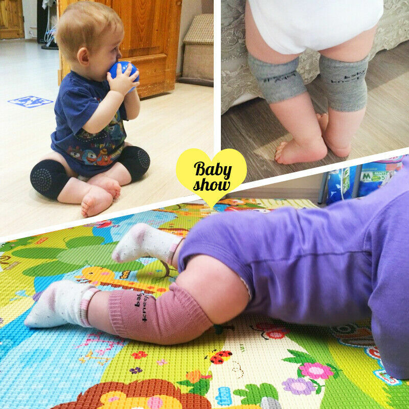 Fashion Baby Crawling Soft Knee Pads Safety Non-slip Walking Leg Elbow Protector 4