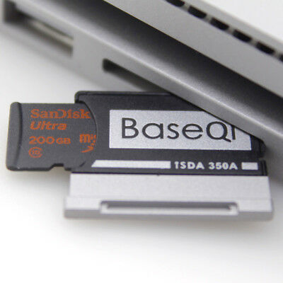 "BaseQi Aluminum MicroSD Adapter for Microsoft Surface Book/Surface Book 2 13.5"" 2"