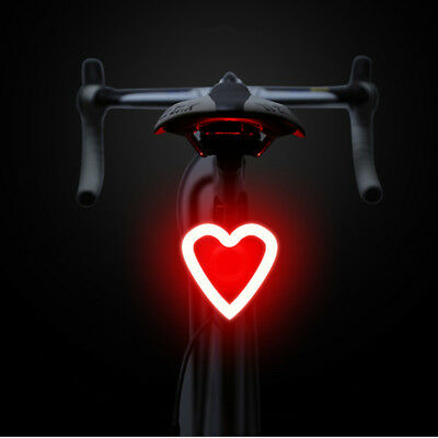 USB Rechargeable Bike Rear Light Tail Lamp LED Bicycle Warning Safety Waterproof 2