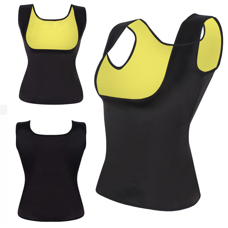 b9dcbf30645 4 of 12 US Sweat Sauna Body Shaper Women Slimming Vest Thermo Neoprene  Waist Trainer LC