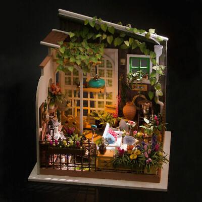Robotime DIY Wooden Dollhouse 1:24 Miniature Garden Kits Toy for Kids Girl Adult 6