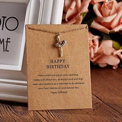Women Animal Owl Cat Clavicle Short Paper Card Necklace Pendant Gold Chain Gift 9