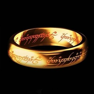 Lord of the Rings The One Ring Power Band 6mm Unisex Stainless Steel Size 6-13 5