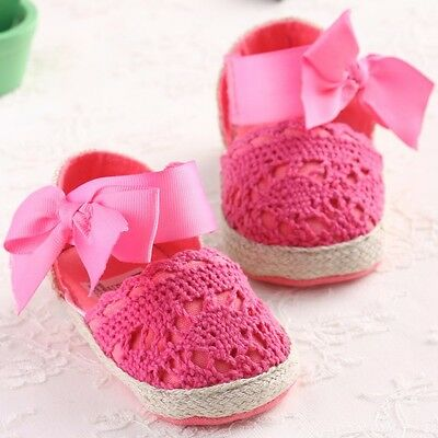 Baby Infant Kids Girl Soft Sole Crib Toddler Newborn Shoes 0-18 M anti-slip NEW 4