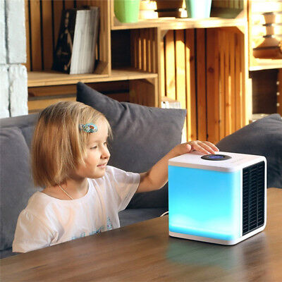 AU NEW Portable Mini Air Conditioner Cool Cooling For Bedroom Cooler Fan 5