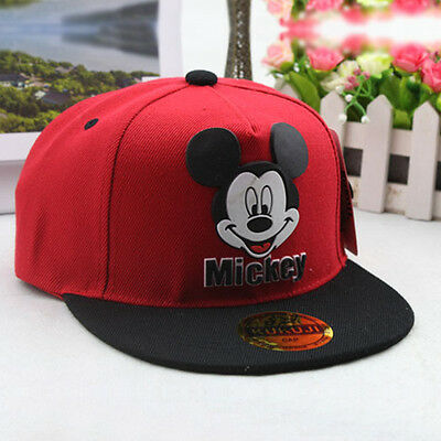 6 of 8 Kids Boy Girl Adjustable Mickey Mouse Baseball Cap Snapback Hip-hop  Sports Hat 0b09f44f56ed