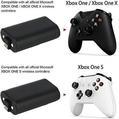 2Pack For Official Microsoft XBOX ONE Controller Play and Charge Kit 1400mAh 4