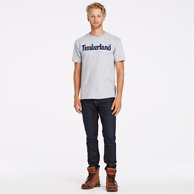 NWT Timberland Men's Faded Linear Logo Short Sleeve Crew Neck T Shirt A11GY NEW 6