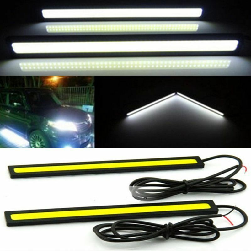 2x Super Bright COB White Car LED Lights for DRL Fog Driving Lamp Waterproof 12V 10