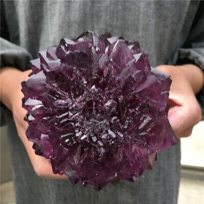 TOP!2.8LB-4.0LB Rare Purple Alunite Crystal Mineral Specimen Point Reiki Healing 10