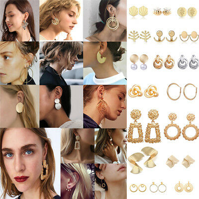 Fashion Statement Metal Geometric For Women Boho Dangle Earrings Modern Jewelry 2