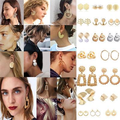 Fashion Women Metal Geometric Pendant Dangle Drop Statement Earrings Jewelry 4