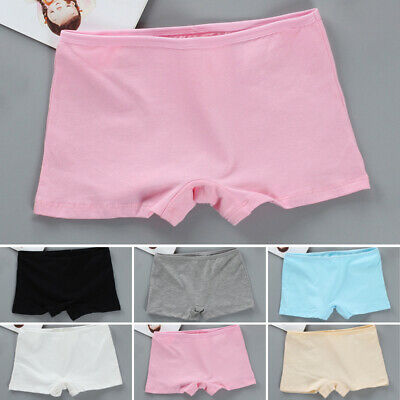 Kids Girls Teens Boxer Shorts Panties Briefs Knickers Cotton Comfy Underwear 9