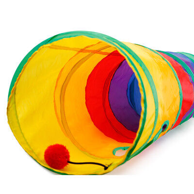1 Kids baby Funny Tunnel Tent Cat Training Folding Pet  Play Toys 7