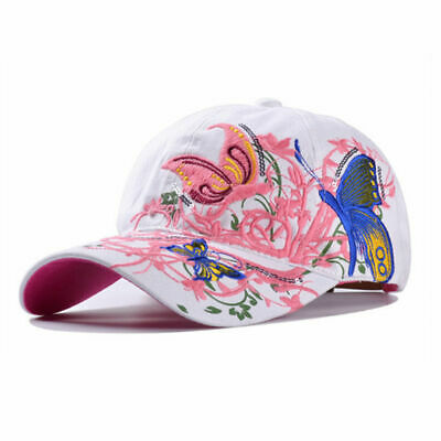AKIZON Baseball Cap For Women With Butterflies And Flowers Embroidery Adjustable 8