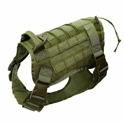 US Police K9 Tactical Training Dog Harness Military Adjustable Molle Nylon Vest 9