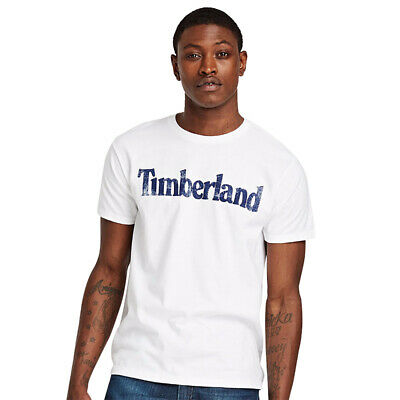 NWT Timberland Men's Faded Linear Logo Short Sleeve Crew Neck T Shirt A11GY NEW 9