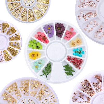 3D De uñas Arte Consejos Cristal Brillo Diamantes de imitación Decoración Rueda 4