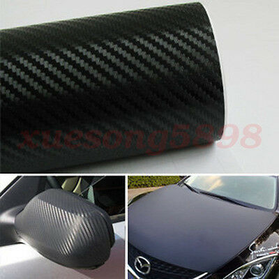 3D Waterproof Carbon Fiber Vinyl Car Wrap Sheet Roll Film Sticker Decal Paper 11