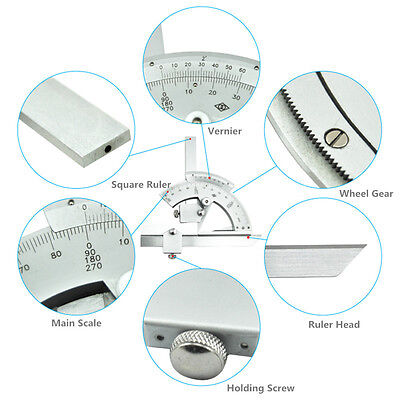 320 Degree Universal Bevel Protractor Angular Dial measuring inner&outer angle 4