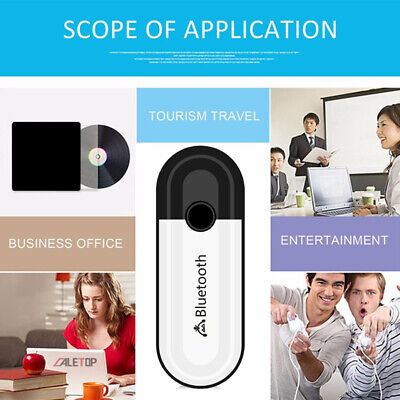 2 in 1 Bluetooth 5.0 Receiver USB Audio Wireless *Adapter For Headphone Spea KY 4
