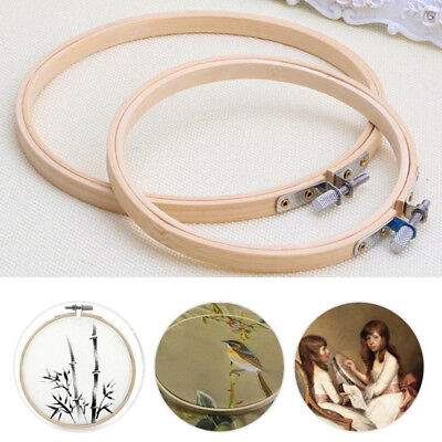 1PC New Wooden Cross Stitch Machine Embroidery Hoop Ring Bamboo Sewing 13-30cm 4