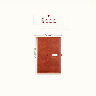 A5 PU Leather Vintage Journal Notebook Lined Paper Diary Planner with Buckle 5