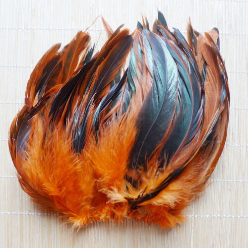 Wholesale 50/100pcs Beautiful Rooster Tail Feather 6-8inch/15-20cm Hot 11