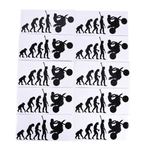 Human Evolution Motorcycle Car Stickers Personalized Vinyl Reflective Decals