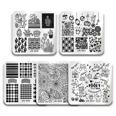 BORN PRETTY Nail Image Stamping Plates Nail Art Stamp Stencil Template Summer 3