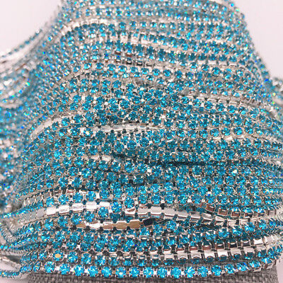 Wholesale 1-Row SS8 Cystal Rhinestone Trim Close Cup Chain Claw Jewelry Crafts 3