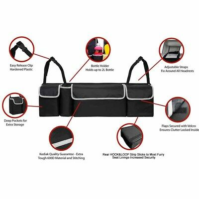 Black High Capacity Multi-use Car Seat Back Organizers Bag Interior Accessories 4