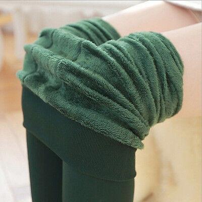 Pantaloni da donna a vita alta elasticizzati in caldo pile con fodera in pile PB 9