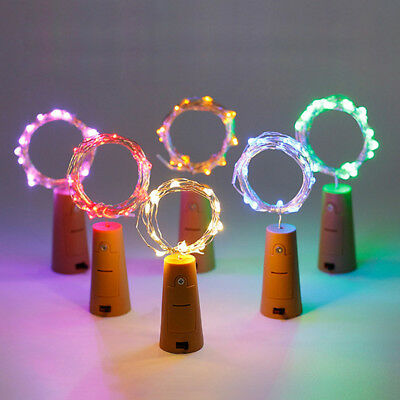 15 LED Cork Shape Fairy Lights Night Light Wine Bottle Strip Lamp for Bar Hotel 4