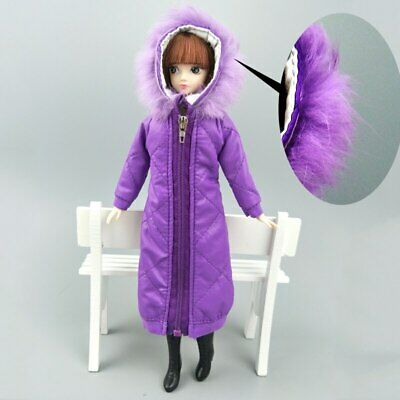 Long Coat Cotton Dress for 11.5in. Doll Clothes Parka For 1/6 BJD Doll Jacket 3