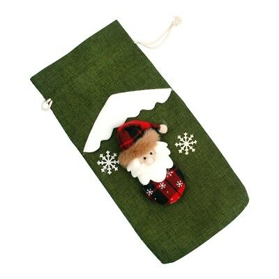 Red Wine Bottle Cover Bags Snowman Santa Claus Christmas Decoration Sequins New 9