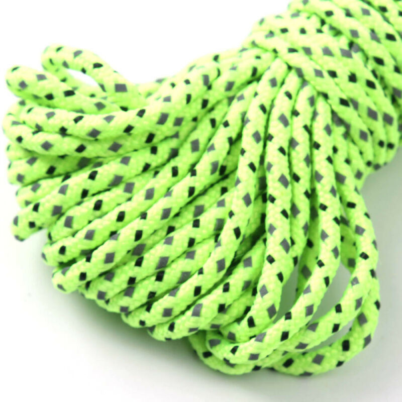2.5MM Reflective Camping Tarp Tent Rope Guy Line Cord 20M Practical Good 3