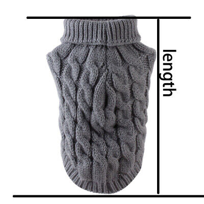 Pet Cat Dog Sweater Warm Dog Coat Jumpers Hoodie Cat Clothes for Puppy Small UK 6