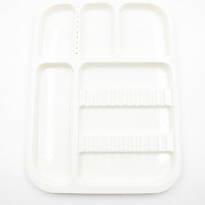 Dental Sterilized Autoclavable 135° Divided Tray Plastic Separate 245x340x2mm 6