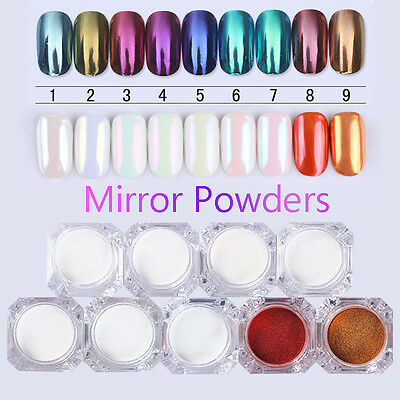 Nail Glitter Mirror Powder Dust Pearl Nail Art Chrome Pigment Decoration DIY 10