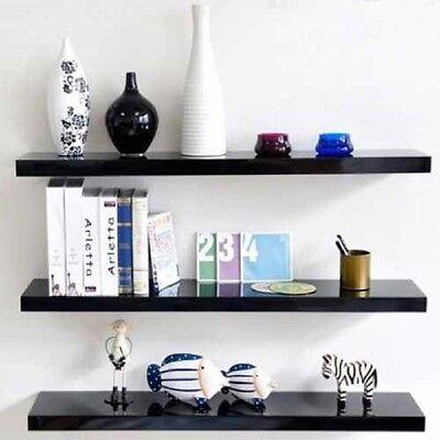 High Gloss Floating Wall Shelf Display Shelves Bookshelf CD Storage Wall Mount 3