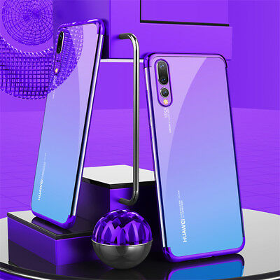 For Huawei P Smart 2019/ P30 P20 Lite Pro Plating Silicone Hybrid Case Cover 2