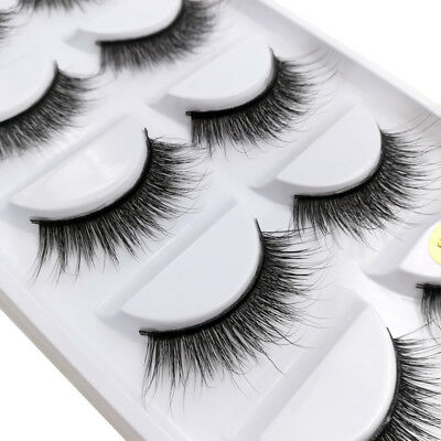 3D 5 Pairs Mink Natural Thick False Fake Eyelashes Eye Lashes Makeup Extension 6